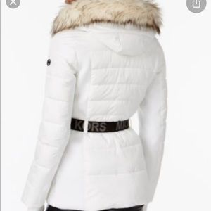 NWT Michael Kors jacket w faux fur